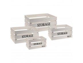 Box pro skladování, dřevěná - 4 ks