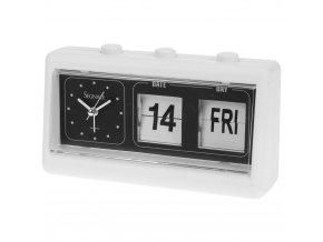 Budík s kalendářem, hodiny