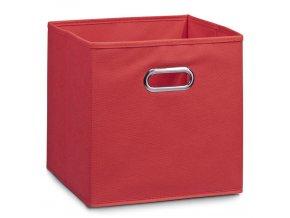 Koš pro skladování potravin, organizér, červená barva, 32 x 32 x 32 cm, ZELLER
