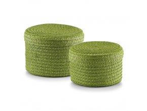Koše pro doplňky, drobnosti - 2 ks, barva zelená, ZELLER