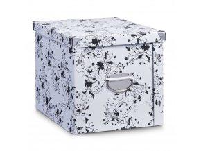 Box pro skladování, 28x36x27 cm, barva bílá, ZELLER
