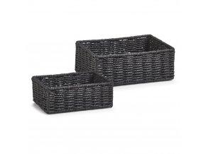 Koš pro skladování, barva černá, 2 kusy v kompletu, ZELLER