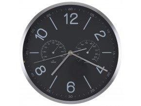 Nástěnné hodiny s teploměrem a vlhkoměrem, Ø 30 cm