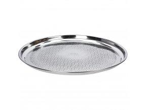 Deska na servírování jídla, občerstvení,  talíř na ovoce - nerezová ocel, Ø 55 cm EH Excellent Houseware