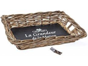 Kamenná deska na servírování jídla, košík na chléb, ovoce KUBU 54x37x10 cm EH Excellent Houseware