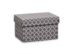 Ozdobná krabička, obdélníková, šedá barva, 24x16x14  cm, ZELLER