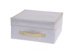 Skládací textilní kontejner s víkem, 31x28x15 cm Storagesolutions