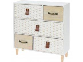 Dřevěná skříňka na drobnosti, se 5 zásuvkami Home Styling Collection
