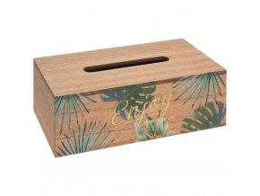 Dřevěná dóza na papírové kapesníčky v ecostyle, 25x9 cm