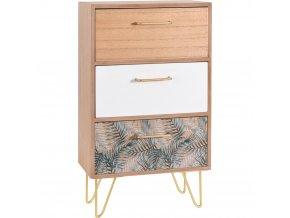 Dřevěná skříňka na drobnosti FERN DESIGN - se 3 zásuvkami Home Styling Collection