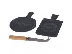 Kamenná deska na sýry s noži, sada 2 ks EH Excellent Houseware