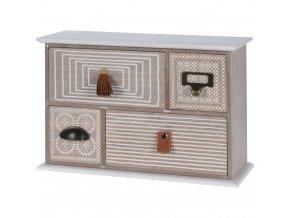 Dřevěná skříňka na drobnosti, se 4 zásuvkami Home Styling Collection