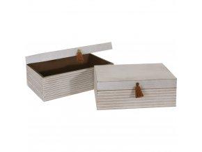 Sada 2 dřevěných boxů na drobnosti