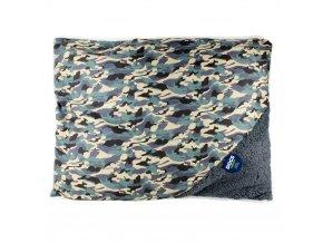 Pelíšek pro psy, kočky - polštářek, barva khaki  Emako