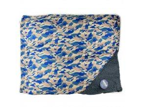 Pelíšek pro psy, kočky - polštářek, barva modrá