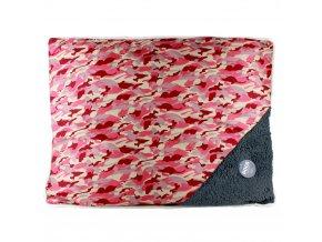 Pelíšek pro psy, kočky - polštářek, barva růžová Emako