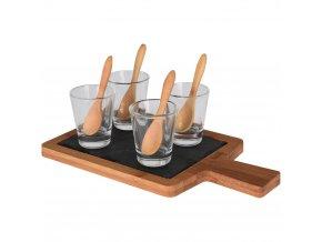 Souprava pro občerstvení, dresinky a předkrmy - 4 sklenice  EH Excellent Houseware
