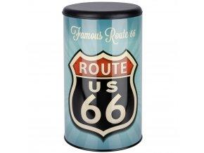 Koš na prádlo Vintage Route 66, kontejner 2 v 1, 54 l, WENKO