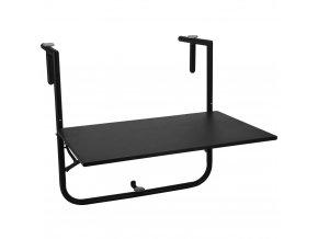 Balkonový stolek, skládací, závěsný 60x40 cm - černá barva ProGarden
