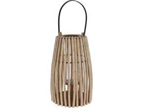 Proutěná lucerna s rukojetí, svícen dekorativní -  25 x 42 cm