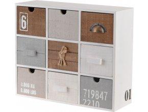 Skříňka - úložný box se 9 zásuvkami