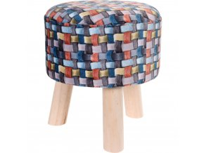 Taburet, sedátko, opěrka nohou, barevná - 32 x 35cm