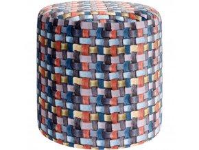 Taburet, sedátko, opěrka nohou, barevná -  35 x 35 cm Home Styling Collection