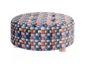 Taburet, sedátko, opěrka nohou, barevná -  52 x 22 cm Home Styling Collection