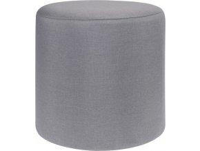 Taburet, sedátko, opěrka nohou, šedá barva -  35 x 35 cm