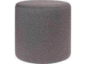 Taburet, sedátko, opěrka nohou, tmavě šedá barva -  35 x 35 cm