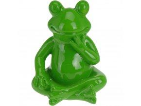 Dekorace na zahradu zelená žába - 14 cm ProGarden