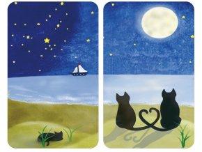 Ochranné skleněné panely CAT PATTERN na sporák – 2 ks, WENKO