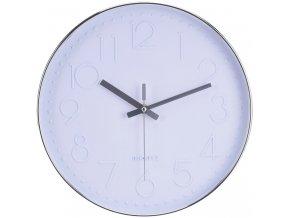 Nástěnné hodiny kulaté, barva bílá Ø 30 cm