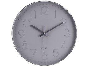 Nástěnné hodiny kulaté, barva šedá Ø 30 cm