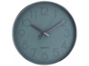 Nástěnné hodiny kulaté, barva zelená Ø 30 cm