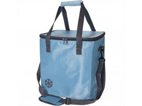 Tepelný, skládací koš, nákupní taška, pro piknik, 24 l, barva modrá Emako