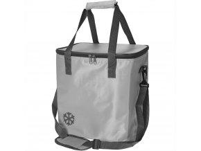 Tepelný, skládací koš, nákupní taška, pro piknik, 24 l, barva šedá EMAKO