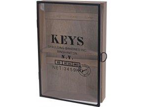Skříňka na klíče - věšák na drobnosti s dvířky