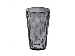 Sklenička CRYSTAL 2.0 L - šedá barva / transparentní, 0,45 l, KOZIOL