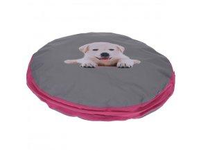 Polštářek pro psa, kočku, Ø58 cm, barva růžová