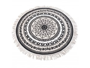 Kulatý koberec dekorativní, rohožka z bavlny, Ø 120 cm Home Styling Collection
