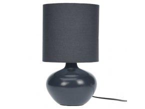 Lampička stolní, keramická - barva černá