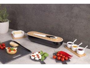 Kontejner na chleba, bambus, 2v1  + nůž na řezání chleba EH Excellent Houseware