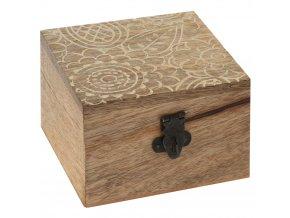 Dřevěný box - přírodní barva dřeva
