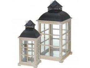 Dřevěná lucerna - 2 ks Home Styling Collection