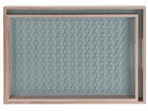 Dřevěný podnos snídaňový  - 2ks, barva zelená Home Styling Collection
