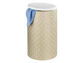 Koš na prádlo ADRIA BEIGE - taburet , 2v1, WENKO