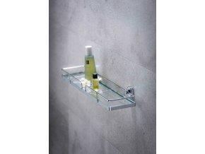 Koupelnová polička  SION MAXI, Power-Loc - chromovaná ocel, WENKO