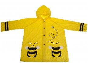 Žlutá pláštěnka pro děti s motivem včel z PVC, 59x47x27 cm