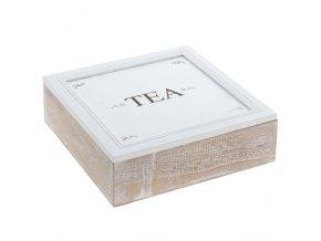 Dřevěný box na čaj  TEA